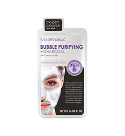 Skin Republic Bubble Purifying + Charcoal Face Mask Sheet