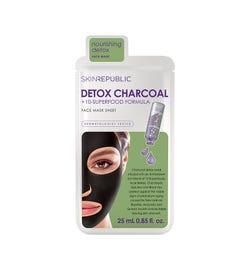 Skin Republic Detox Charcoal + 10-Superfood Formula Face Mask Sheet