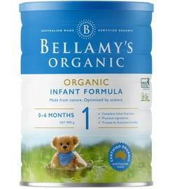 Bellamy's Organic Step 1 Infant Formula 900g