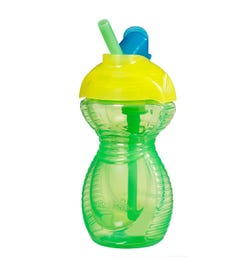 Munchkin Flip Straw Cup (Green) 266ml
