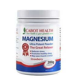 Cabot Health Magnesium Powder Ultra Strawberry 200g