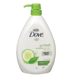 Dove Go Fresh Cucumber & Green Tea Nourishing Body Wash 1L