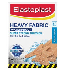 Elastoplast Heavy Fabric Waterproof Assorted Strips X 15