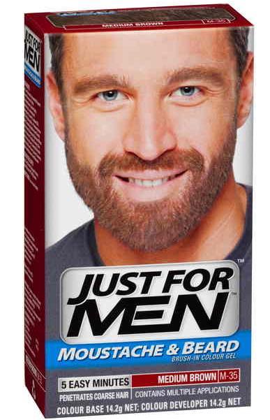 New Just For Men Moustache And Beard Dye Facial Hair Gel Medium ...