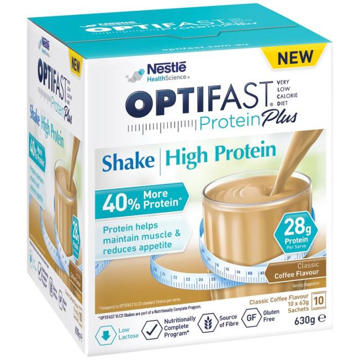 Buy Optifast VLCD Protein Plus High Protein Shake (Coffee) 63g X 10 Online  At Chemist Direct