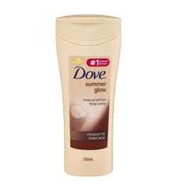 Dove Summer Glow Body Lotion (Medium To Dark Skin) 250ml