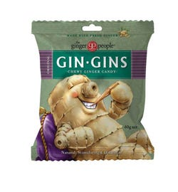 The Ginger People Gin Gins Chewy Ginger Candy Original Bag 60g
