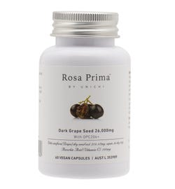 Unichi Rosa Prima Dark Grape Seed 26,000mg Vegan Cap X 60