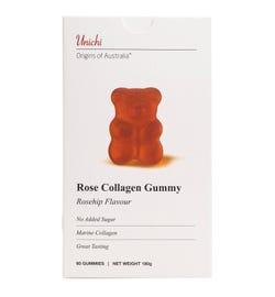 Unichi Rose Collagen Gummy Rosehip Flavour Gummies X 60,,