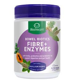 Lifestream Bowel Biotics Fibre + Enzymes Powder 400g
