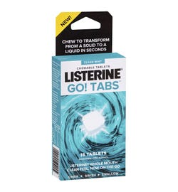 Listerine Go! Tabs Clean Mint Chewable Tab X 16