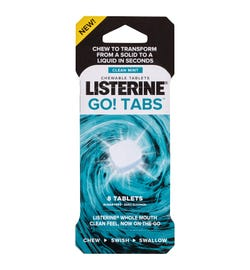 Listerine Go! Tabs Clean Mint Chewable Tab X 8