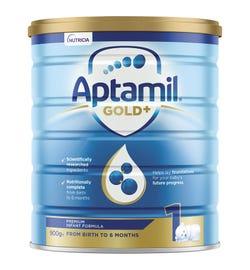 Aptamil Gold Plus 1 Infant Formula (0-6 Months) 900g