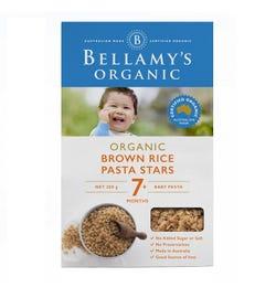 Bellamy's Organic Brown Rice Pasta Stars 200g