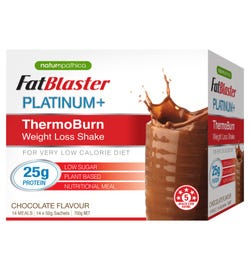 FatBlaster Platinum+ ThermoBurn Weight Loss Shake (Chocolate) Sachets 50g X 14