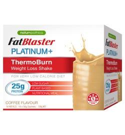 FatBlaster Platinum+ ThermoBurn Weight Loss Shake (Coffee) Sachets 50g X 14