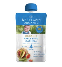 Bellamy's Organic Apple & Fig Oatmeal 120g