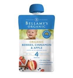 Bellamy's Organic Berries Cinnamon & Apple 120g