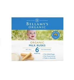 Bellamy's Organic Milk Rusks Teething Rusks 100g
