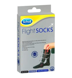 Scholl Flight Socks Compression Hosiery Black (Small Size: W6-8 M3-6)