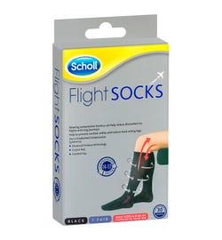 Scholl Flight Socks Compression Hosiery Black (Medium Size W8-11 M6-9)