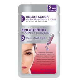 Skin Republic 2 Step Brightening Vitamin C + Collagen Face Mask Sheet