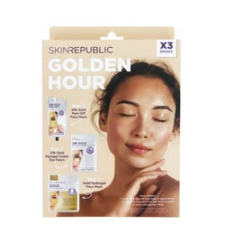 Skin Republic Golden Hour 3 Piece Face Mask Gift Pack