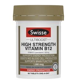 Swisse Ultiboost High Strength Vitamin B12 Tab X 60