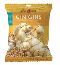 The Ginger People Gin Gins Spicy Turmeric Ginger Chews 150g