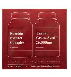 Unichi Twin Pack (Rosehip Extract Complex Cap X 60 + Tannat Grape Seed 26,000mg Cap X 60)